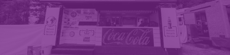 Coca Cola hut with a purple overlay