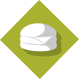 Burger icon on green background